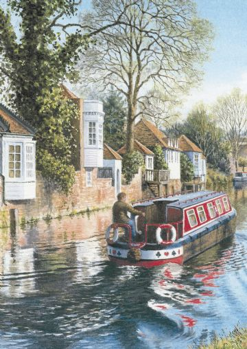 "GREETING CARD BLANK ""CANAL BOAT & WARE GAZEBO'S "" 6.75"" x 4.75"" By Lings FF0775"